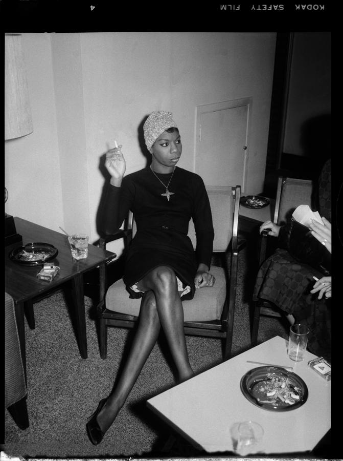 Nina Simone en el backstage de un concierto en Pittsburgh (1965)